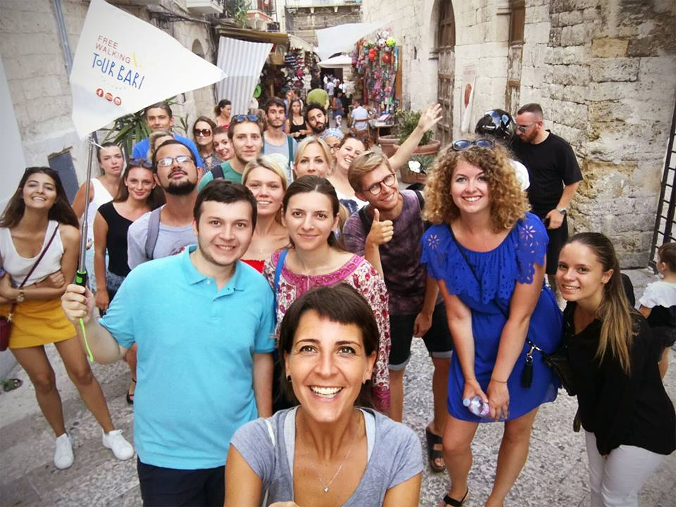 free walking tour bari the first